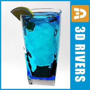 3d model blue lagoon