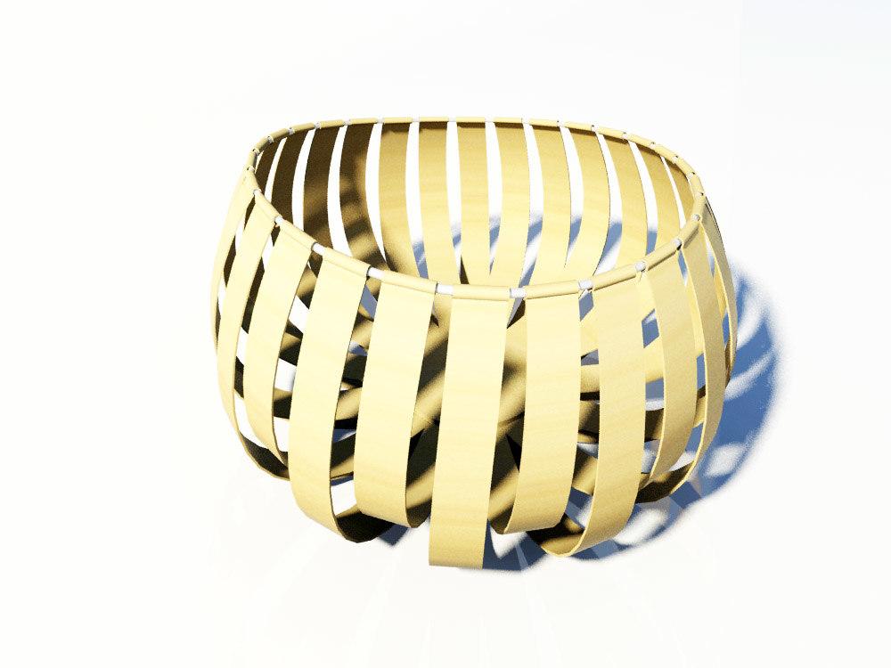 wood bowl 3d model