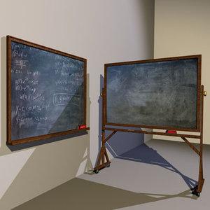 chalkboards 01 chalk board 3d model