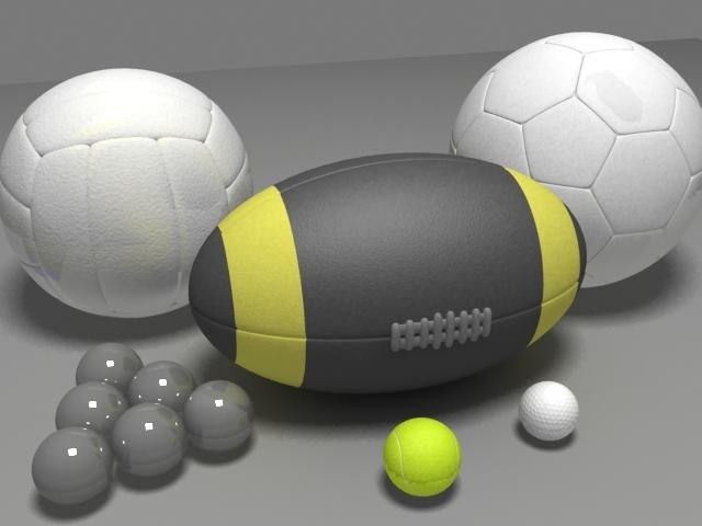 3ds max sports balls