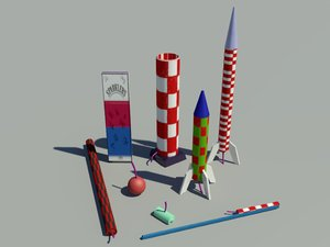 fireworks explosive 3d model