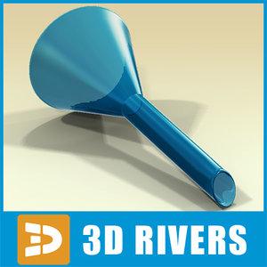 3d model glass funnel