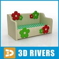 Kids sofa 02 by 3DRivers