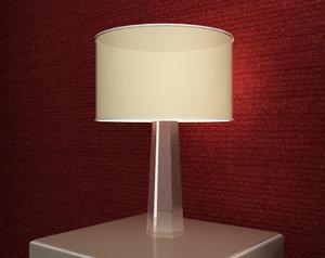3d night table lamp