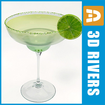 3d model margaritta cocktail drink
