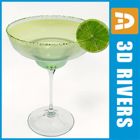 3d model margaritta cocktail drink