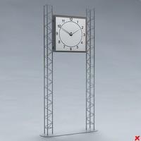 clock street 3d model
