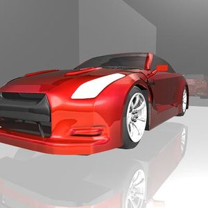 3d nissan sports car model