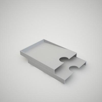 3d paper holder model