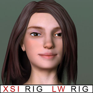 paris rigged lightwave - 3d model