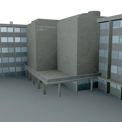 3d model office polytechnic building