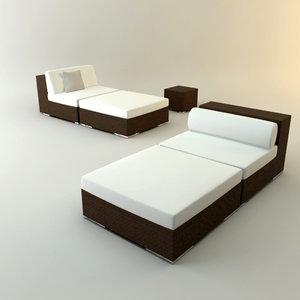 x design couch lounger garden
