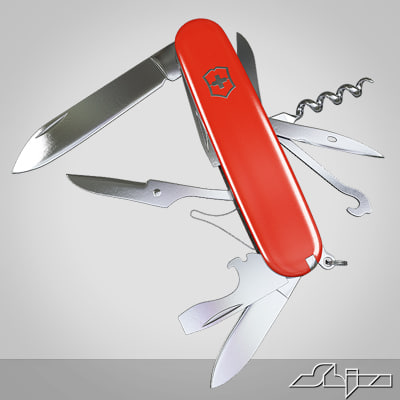 knife swiss army 3d 3ds