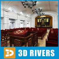 3ds max synagogue interior