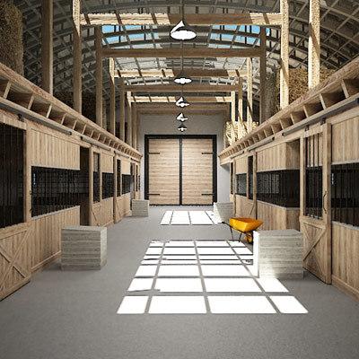 3d model stables