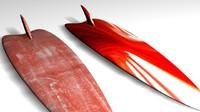 3d model surfboards
