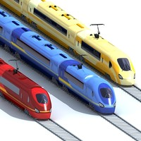 trains tracks 3d model