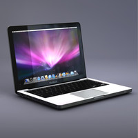 3d apple unibody macbook laptop computer