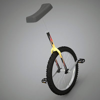 unicycle cycle 3d max