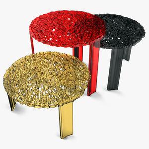 3d model of t-table kartell