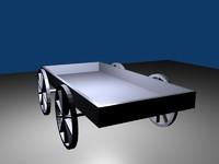 3d simple wagon model