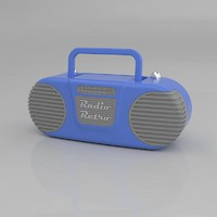 retro radio 3d obj