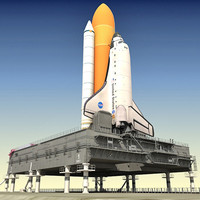 3d nasa space shuttle mlp