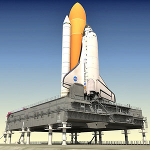 3d nasa space shuttle mlp