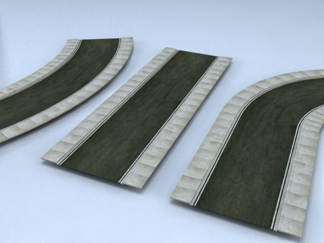 3d street segments model