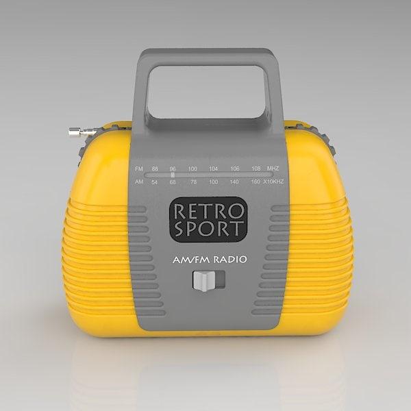 3ds max retro toy radio