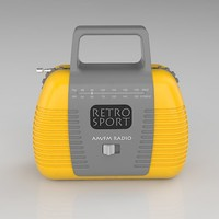 3ds max retro toy radio
