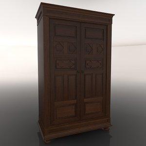 closet armario 3d c4d