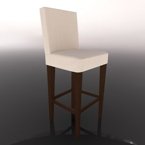 3d model bar chair stool