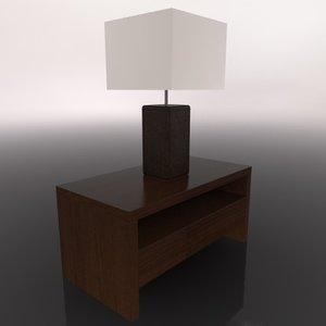table lamp c4d