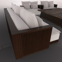 3d model living room set