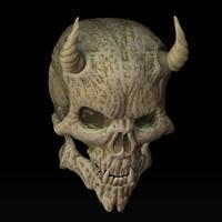 skull lesser demon 3d model