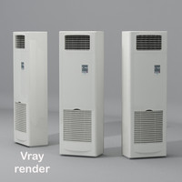3d industrial air conditioner model