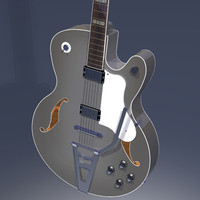 3d model guitar jazz