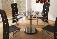 3d dining table 2 model