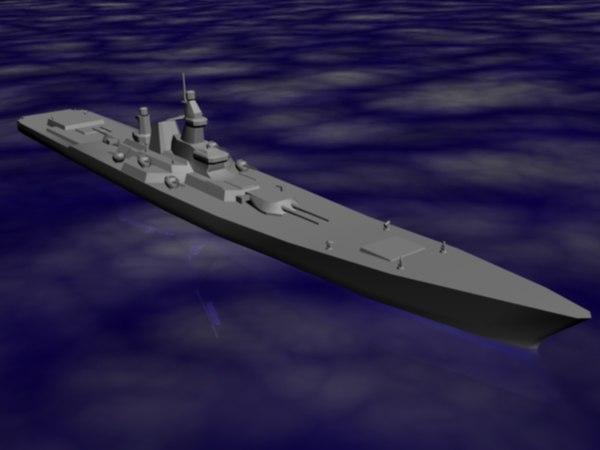 battlecruiser 3d max