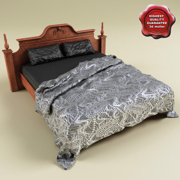 3d bed coverlet v4