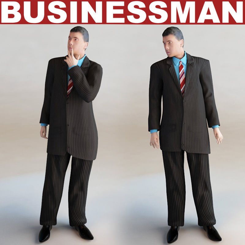 businessman games modelled max