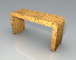 cactus wood table 3d model