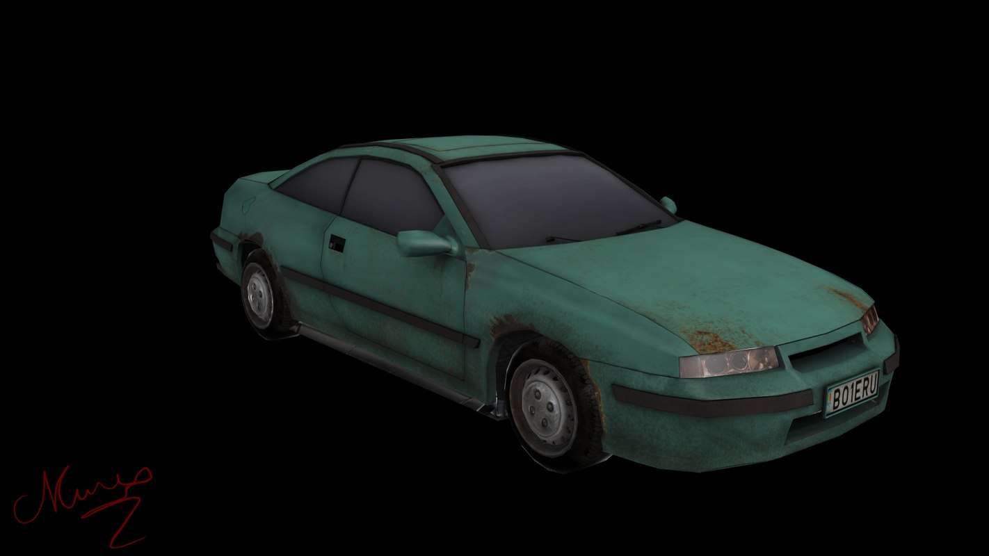 car old new 3d model