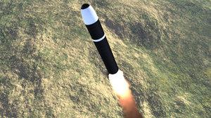 3d d5 trident missile model