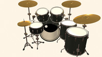 Drum Kit (6 piece) High Detail