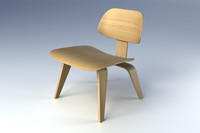 eames lcw chair molded 3d max