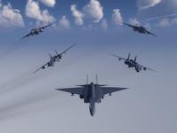 f-24b missiles aircraft 3d vue