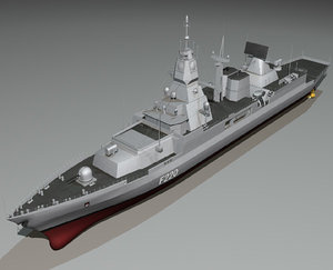 f124 sachsen class frigates 3d model