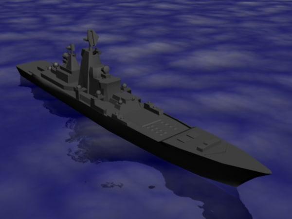 russian battlecruiser class 3d max